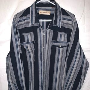 But & Bridle pearl snap button 2XL shirt